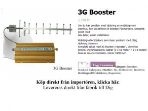 3G Booster signal förstärkare